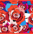 bright pattern red roses vector image vector image