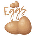 brown eggs icon isolated on white background vector image vector image