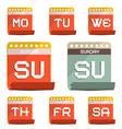 Calendar Symbols - Icons Set vector image