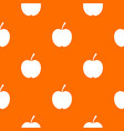 checkered apple pattern seamless vector image vector image