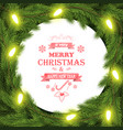 christmas and new year typography background vector image vector image