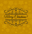 christmas greeting card typographical background vector image vector image