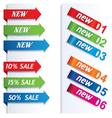 colorful arrows and labels vector image vector image
