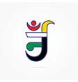 colorful aum symbol jainism vector image vector image