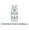 construction overalls line icon linear vector image vector image