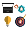 Creative process design with colorful icons vector image vector image