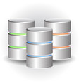 cylinder icons hdd webhosting concepts vector image
