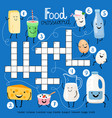 dairy products food crossword vector image