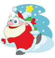 dancing santa claus cartoon character vector image vector image