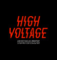 danger hight voltage style modern font design vector image vector image