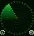 detailed a radar screen vector image vector image
