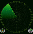 Detailed of a Radar Screen vector image