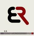 ER logo monogram vector image vector image