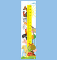 farm animals height meter vector image vector image
