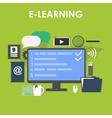 flat design icons set distance education vector image