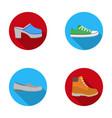 flip-flops clogs on a high platform and heel vector image vector image