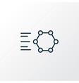 Graphene technology icon line symbol premium