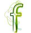 Green letter F vector image vector image
