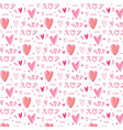 hand drawn cute heart pattern background vector image vector image