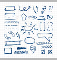 handdrawn pen design sketch elements direct vector image
