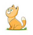 happy cartoon cat vector image