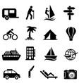 leisure recreation and outdoor icons vector image vector image
