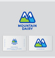 m monogram mountains dairy products vector image vector image