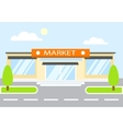 Market in the day store vector image