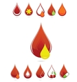 medic blood drops set vector image vector image
