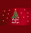 merry christmas background with stars vector image