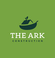 modern professional logo the ark construction on vector image vector image