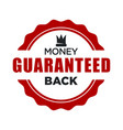 money back guaranteed red stamp template vector image