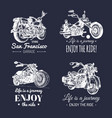 motorcycles advertising posters set hand vector image vector image