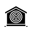 natural material for building glyph icon vector image vector image