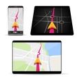 Navigation in smartphone or tablet vector image