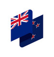 new zealand flag isolated ribbon banner state vector image vector image
