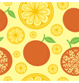 Orange seamless pattern background vector image vector image