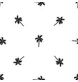 palm tree pattern seamless black vector image vector image