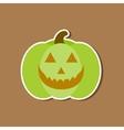 paper sticker on stylish background halloween vector image