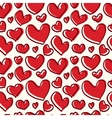 Pattern red heart with a thick line vector image