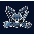 rabbit ninja sport esport mascot logo vector image vector image
