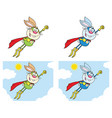rabbit super hero collection -3 vector image vector image