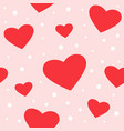 seamless hearts and dots pattern vector image