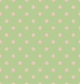 Seamless polka dot green pattern with circles vector image