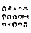 set of hairstyles for woman isolated vector image vector image