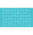 set of line icons of natural history vector image