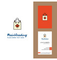 shopping bag creative logo and business card vector image vector image