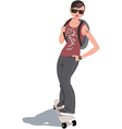 Skater girl vector image vector image