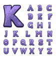 Stone game alphabet for user interfaces vector image vector image