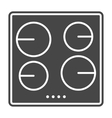 Stove icon solid gray vector image
